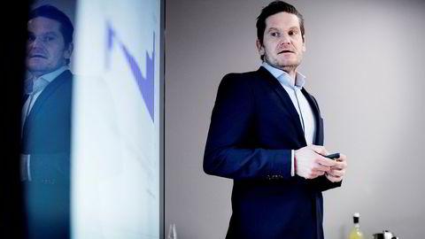 – Vi må nok regne med litt humpete utvikling fremover, advarer sjeføkonom Kjetil Olsen i Nordea Markets. Her fotografert under en presentasjon tidligere i år. Foto: Ida von Hanno Bast