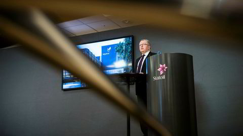 Statoil-sjef Eldar Sætre lanserte torsdag Statoils nye navn Equinor.