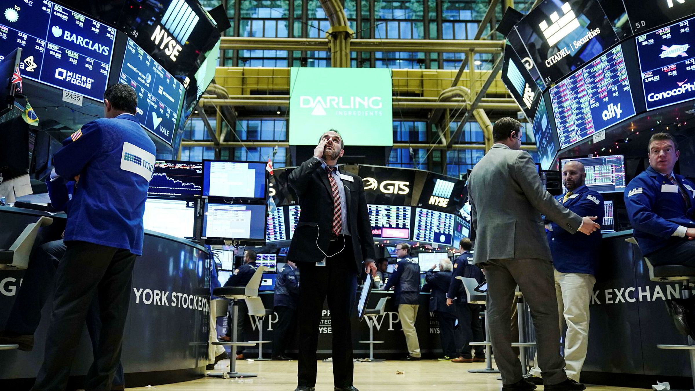 Meglere på gulvet i New York-børsen, som nå har søkt om godkjennelse av fem bitcoin-fond som skal gi inntil dobbelt avkastning eller tap.