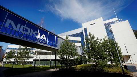 Nokia-logoen ved hovedkontoret i finske Espoo er som den var på de folkekjære mobilmodellene som til slutt måtte gi tapt mot smarttelefonene.