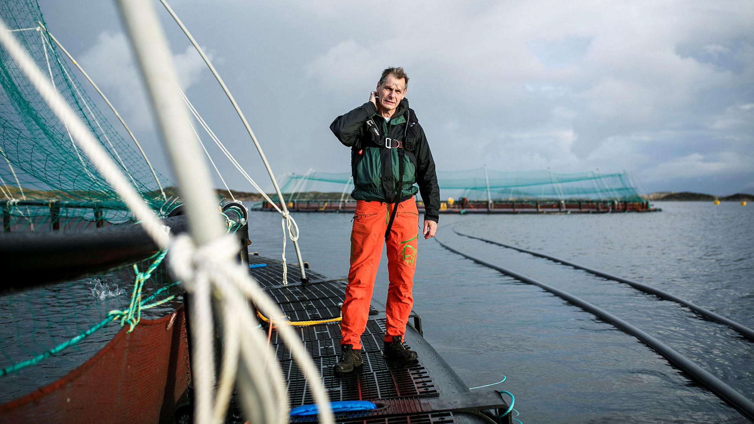 Laksegründer Ola Braanaas tror ikke havbruksnæringen når målet om mangedobling av produksjonen innen 2050.