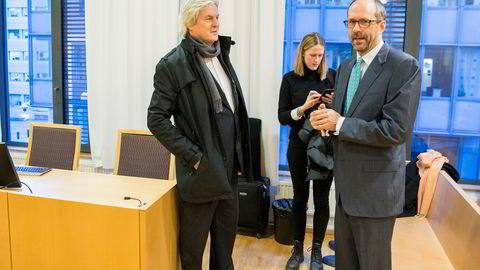 I vinter måtte Forum Securities møte i Oslo tingrett etter å ha blitt saksøkt av en tidligere ansatt. Her er compliance-ansvarlig Arne Aarhus (til venstre) sammen med meglerhusets advokater Jan Fougner og Ingvild Solli