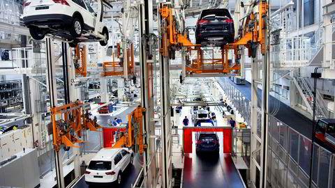 Tyske næringslivsledere har aldri sett lysere på fremtiden, her fra Wolfsburg Volkswagens fabrikk i Wolfsburg.