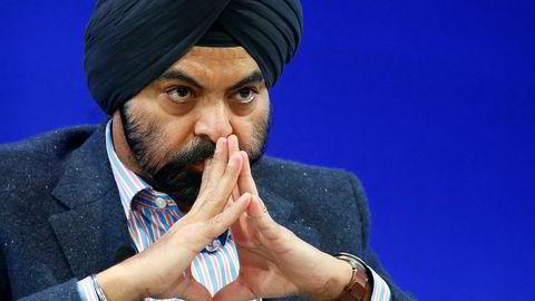 Administrerende direktør i Mastercard, Ajay Banga, ser på kontanter som den virkelige konkurrenten til selskapet.