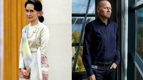Problemene tårner seg opp for Aung San Suu Kyi. Hvordan hun løser dem, kan bli avgjørende for Telenor-sjef Sigve Brekke i vekstraketten Myanmar.