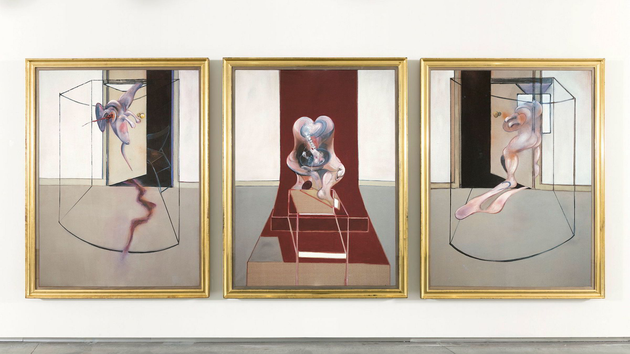 Francis Bacon, Triptych Inspired by the Oresteia of Aeschylus, 1981, eid av Astrup Fearnley.