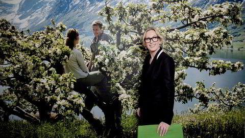 Sjef i Innovasjon Norge, Anita Krohn Traaseth, vil få fart på det grønne skiftet ved å gjøre veien fra idé til marked raskere. Her er hun i forbindelse med presentasjon av Innovasjon Norgess nye logo i 2015.
