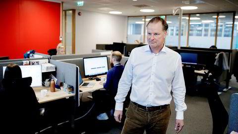 Administrerende direktør Øyvind Thomassen i Sbanken varsler kostnadskutt.