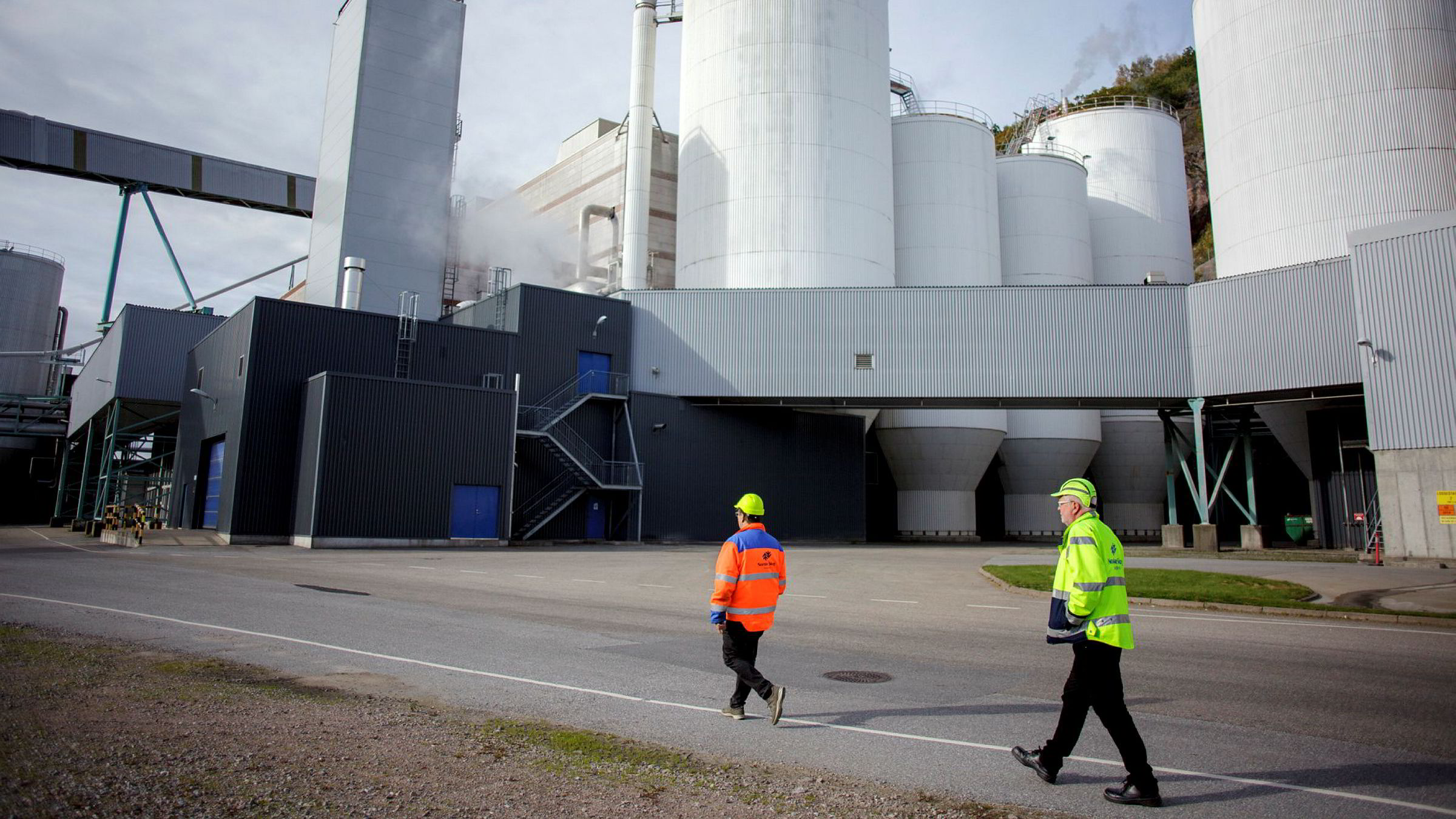 Den største eieren av usikret gjeld i Norske Skog avviser styrets siste redninsgplan. Dermed kan det gå mot konkurs i det kriserammede selskapet. Bildet er fra Norske Skog Sugbrugs i Halden.