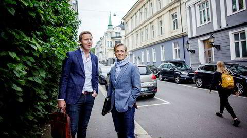Daglig leder Kjetil J. Olsen (til venstre) i Husleie.no og investor Grunde Eriksen tror det er et betydelig marked for billig forvaltning av utleieforhold.