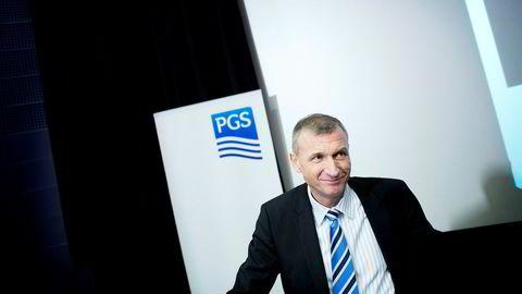 SKUFFER: Konsernsjef Jon Erik Reinhardsen i seismikkselskapet Petroleum Geo-Services (PGS) skuffer stort med sitt fjerdekvartalsresultat for 2016.