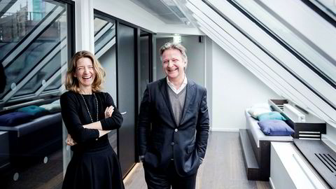 Anniken Haugen Jebsen blir ny administrerende direktør i Zync. Her sammen med daglig leder Claus Sonberg.