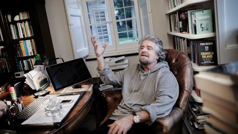 Beppe Grillo er italiensk komiker, skuespiller og politiker leder Femstjernersbevegelsen.