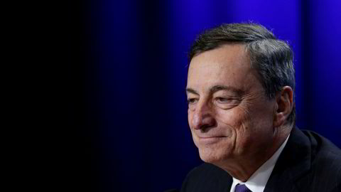 Mario Draghi er sentralbanksjef i Den europeiske sentralbanken ECB.