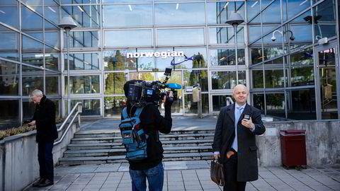 Norwegian holdt mandag en ekstraordinær generalforsamling på nett. Her fra hovedkontoret på Fornebu.