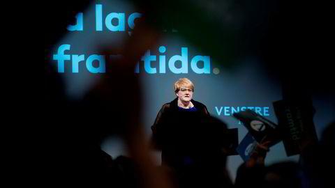 Trine Skei Grande under Venstre landsmøte i Ålesund.