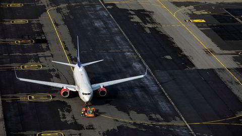 SAS tapte milliardbeløp på koronasommeren. Her fra Oslo lufthavn.