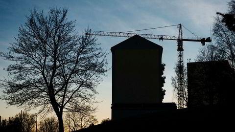 Boligbyggingen i hovedstaden nærmer seg nå nivået fra 2007 før finanskrisen satte en stopper for moroa.