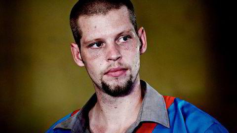 Joshua French under rettssaken i 2014, tiltalt for å ha drept cellekameraten Tjostolv Moland i Ndolo-fengselet i Kinshasa.