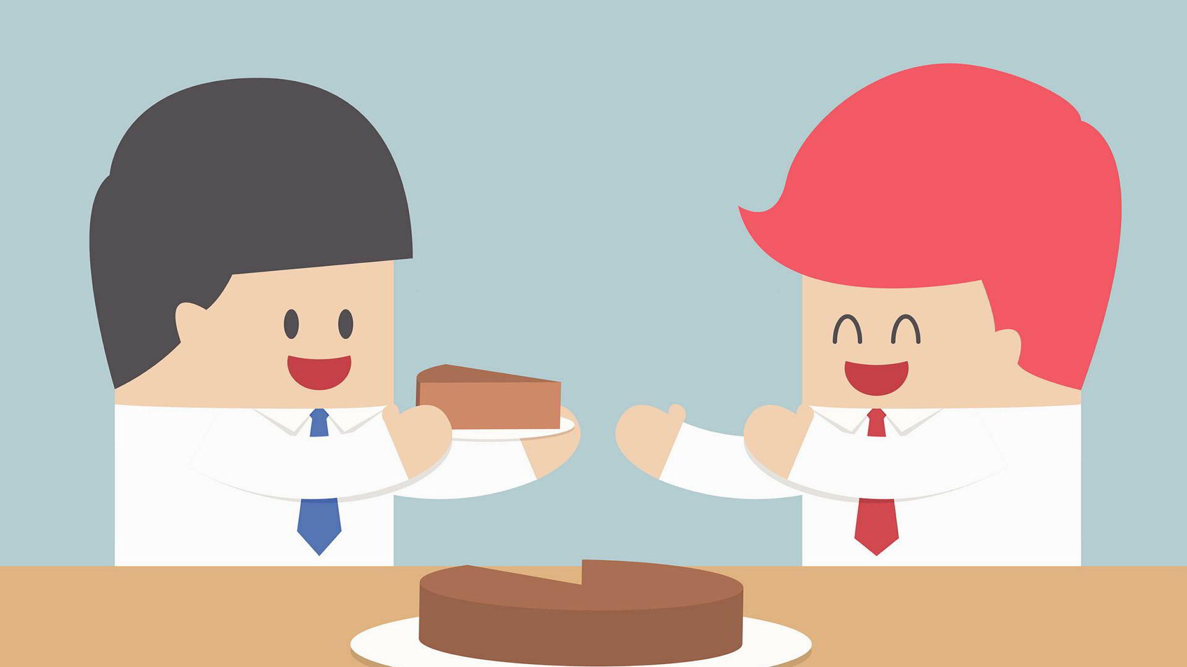 Mindre kake? Ja takk, gjerne det, bare begge får like lite. Åtte av ti nordmenn foretrekker det slik.