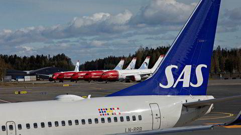 Flere fly er blitt parkert på Oslo Lufthavn da Norge ble «stengt ned» på grunn av koronaviruset.