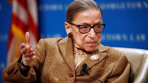 Den 87 år gamle høyesterettsdommeren Ruth Bader Ginsburg er innlagt på sykehus med det som kan være en infeksjon.