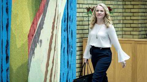 Arbeids- og sosialminister Anniken Hauglie (H) må gjennomføre nye regler for bemanningsbransjen selv om hun er uenig i dem. Foto: Cicilie Andersen