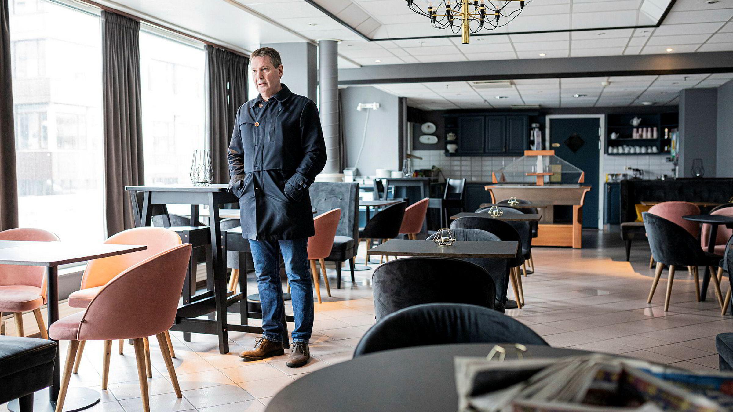 Stengt hotell: Idar Gabrielsen, eier av hotellkjeden Enter i Tromsø, har lagt ned driften av fire av sine fem hoteller etter utbruddet av koronaviruset. Foto: Marius Fiskum
