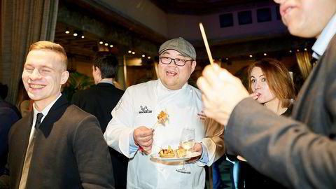 Vladimir Pak fra Omakase mottok Michelin-stjerne. Her på etterfesten på Britannia hotell i Trondheim sentrum.