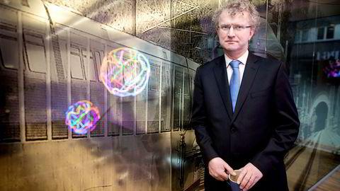 – Et børskrakk kommer jo alltid ut av det blå, sier sjeføkonom Jan L. Andreassen. Foto: Ida von Hanno Bast