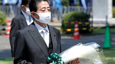 Japans statsminister Shinzo Abe markerte lørdag at det er gått 75 år siden landet kapitulerte etter å ha blitt utsatt for atomangrep mot slutten av annen verdenskrig.