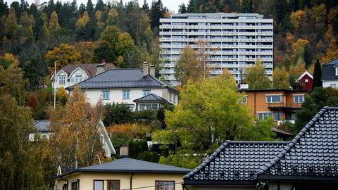 12.10.16. Investorene kikker ut av Oslo og gjerne mot Drammen for å finne sekundærboliger som gir tilstrekkelig avkastning. Illustrasjonsbilde.