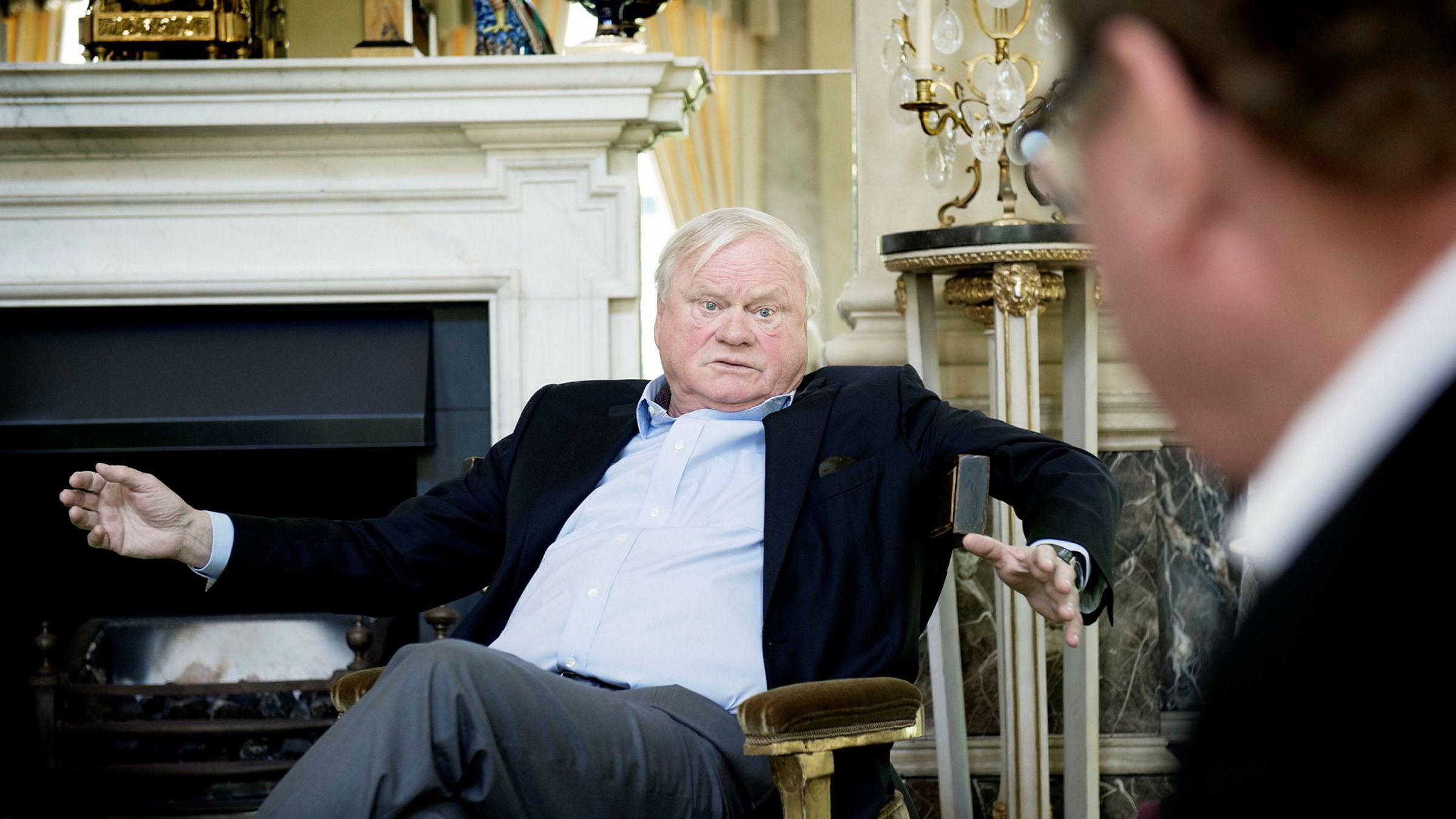 Skipsreder og investor John Fredriksen her i sitt hjem, «The Old Rectory», i London,