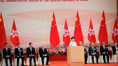 Den nye sikkerhetsloven for Hongkong er den viktigste utvikling siden byen ble tilbakeført til Kina i 1997, sier Hongkongs leder Carrie Lam.