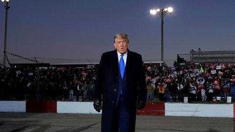 Donald Trump under et valgkamparrangement i Wisconsin tirsdag.