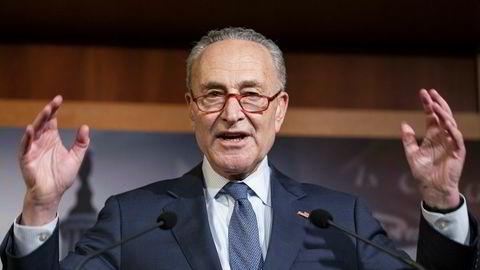 Senatets mindretallsleder Chuck Schumer sier frifinnelsen av Donald Trump i Senatet er «praktisk talt verdiløs» siden republikanerne nektet å kalle inn vitner.