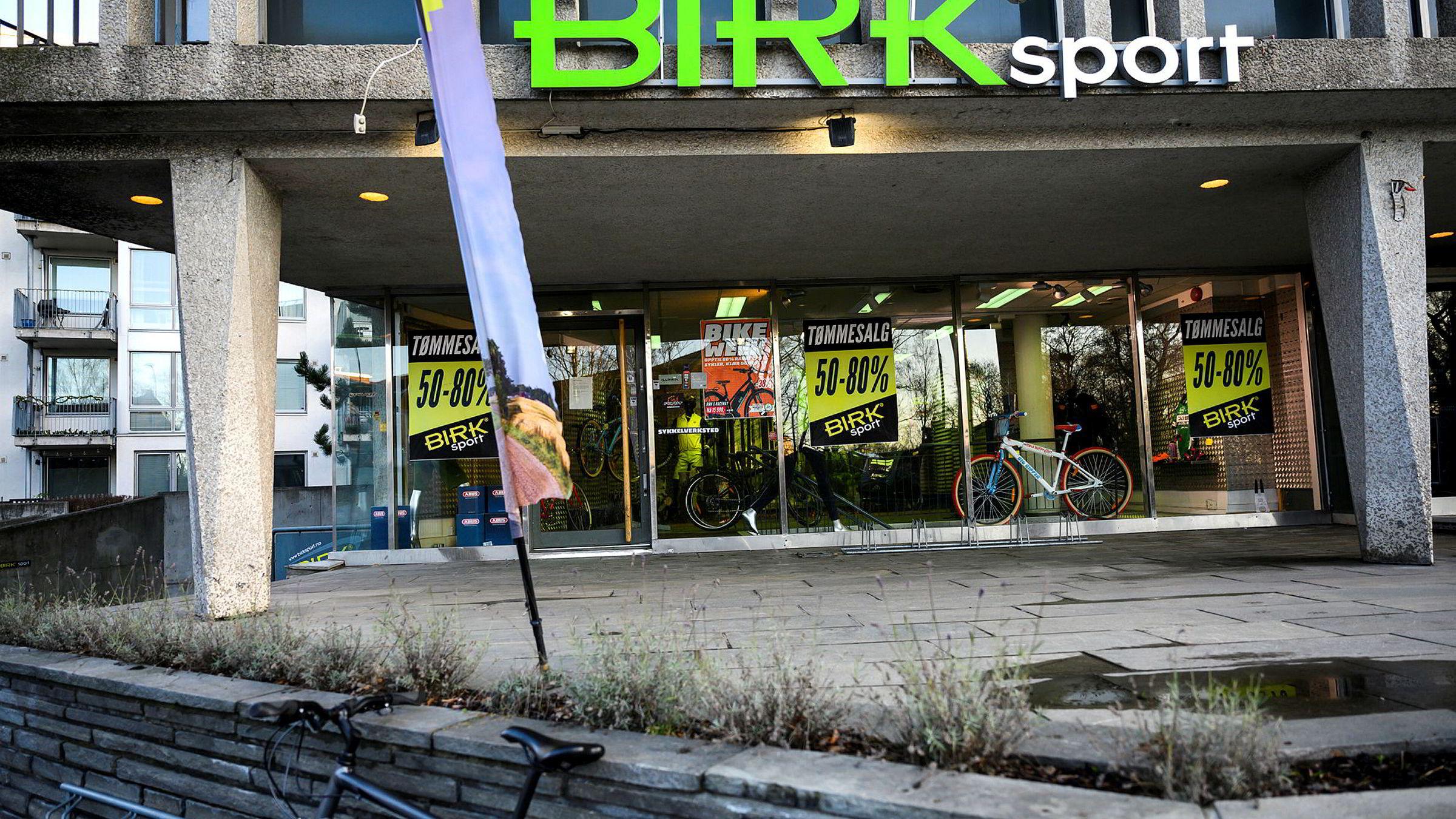 Birk Sport gikk onsdag konkurs med en gjeld på litt over 50 millioner kroner. Her er Birk Sports butikk på Torshov i Oslo.