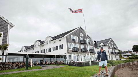 Støtvig Hotel i Larkollen har gjort det bra i sommer. Nå begynner høsten å fylles opp også. Eier Stig Fische er på rundtur i sitt strandhotell kun en time kjøretur fra Oslo.