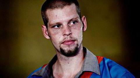 Joshua French under rettssaken der han er tiltalt for å ha drept cellekameraten Tjostolv Moland i Ndolo-fengselet i Kinshasa.