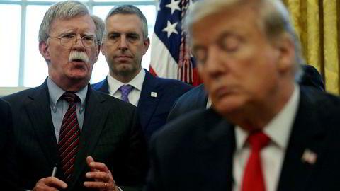 Ifølge president Donald Trumps tidligere sikkerhetsrådgiver John Bolton, sa Trump at militærhjelp til Ukraina kun ville komme i bytte mot etterforskning av Biden, ifølge et utkast til bokmanus av Bolton, som New York Times har fått tilgang til.