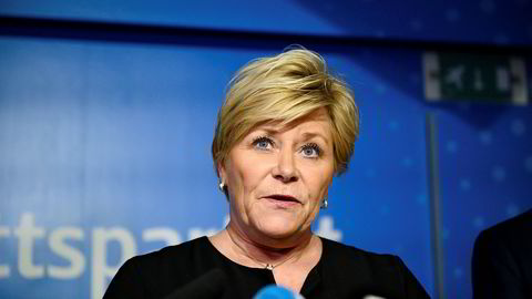 Frp-leder Siv Jensen greide å presse ut noen milliarder til fra regjeringen.