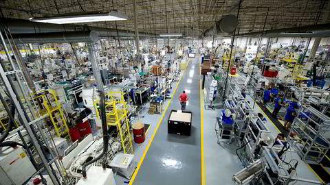 Kongsberg Automotive tar plass i Sparebank 1 Markets' portefølje. Her fra selskapets produksjonsanlegg i Matamoros i Mexico