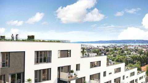 Tidenes dyreste Obos-bolig blir to millioner kroner dyrere. Det gir en kvadratmeter pris på saftige 254.000 kroner. Med på kjøpet følger terrasse og en stor privat takterrasse.