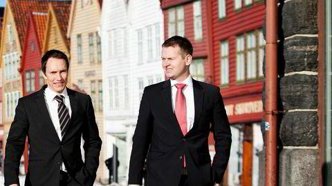 Et nytt søksmål er rettet mot gründerne Erik Egenæs (til venstre) og Endre Tangenes i Nordic Securities, og flere andre sentrale personer i meglerhuset og The Nordic Group.