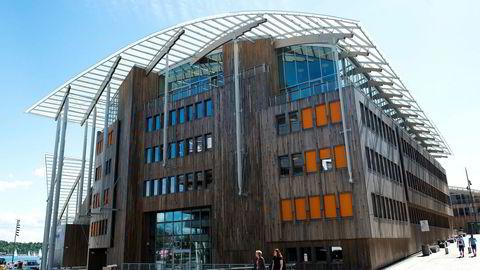 Tjuvholmen Allè 16, med hovedinngangen til advokatfirmaet BAHR i front.