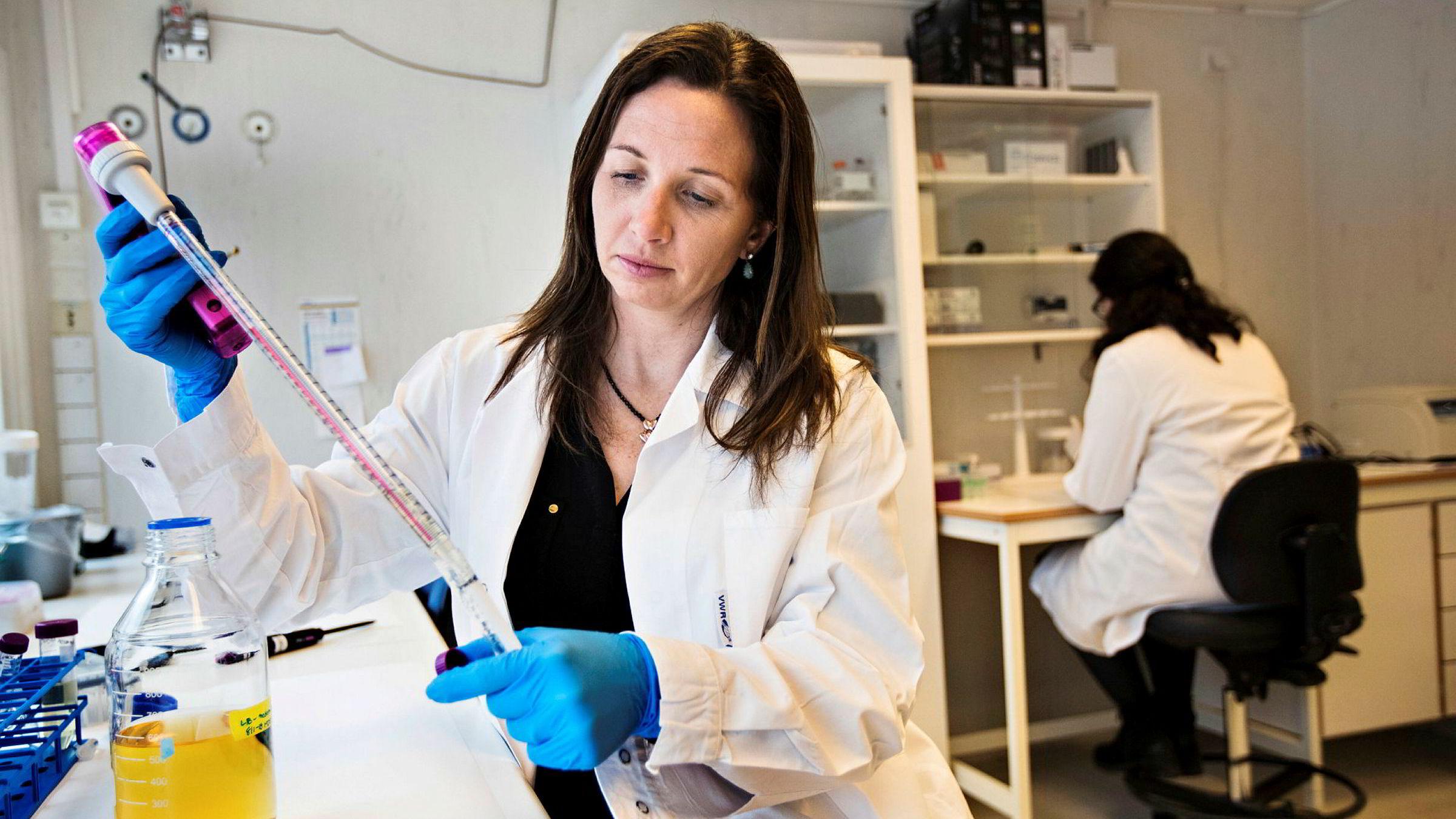 Radforsk trekker frem selskapet Vaccibodys vaksineteknologi. Her medgrunnlegger og styreleder Agnete Brunsvik Fredriksen i Vaccibody ved en tidligere anledning.