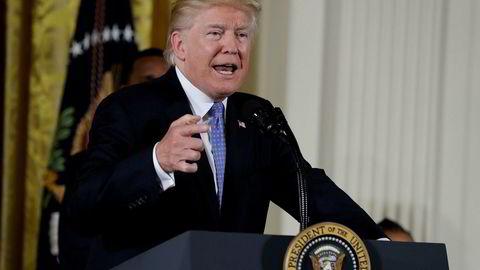 President Donald Trump har lagt seks turbulente måneder bak seg i Det hvite hus.