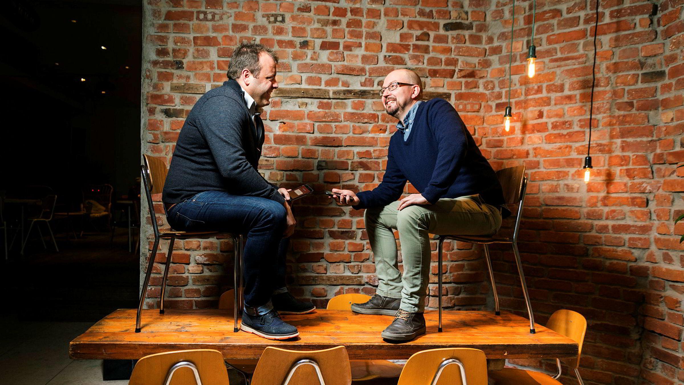 Espen Einn (t.v.) og Kyrre Andersen i Payr vil inn i Sverige i løpet av året, og videre ut i Europa og østover. USA mener de er et overfylt og underutviklet marked.