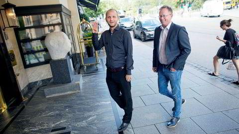 Spillselskapssjef Robin Reed og medgründer Frode Fagerli i Gaming Innovation Group.