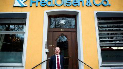 Administrerende direktør Ivar Brandvold i Fred. Olsen Energy avbildet foran selskapets kontorer i Oslo.